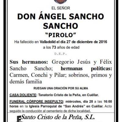 Ángel Sancho Sancho