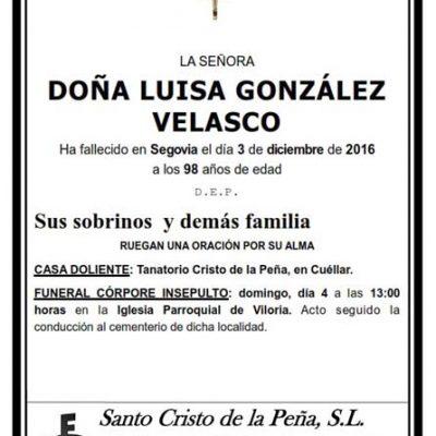 Luisa González Velasco