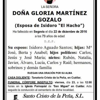 Gloria Martínez Gozalo