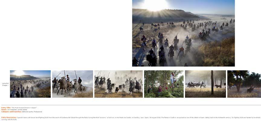 Algunas de las fotos del reportaje premiado.