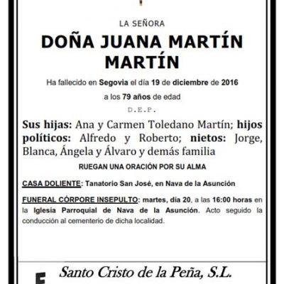 Juana Martín Martín