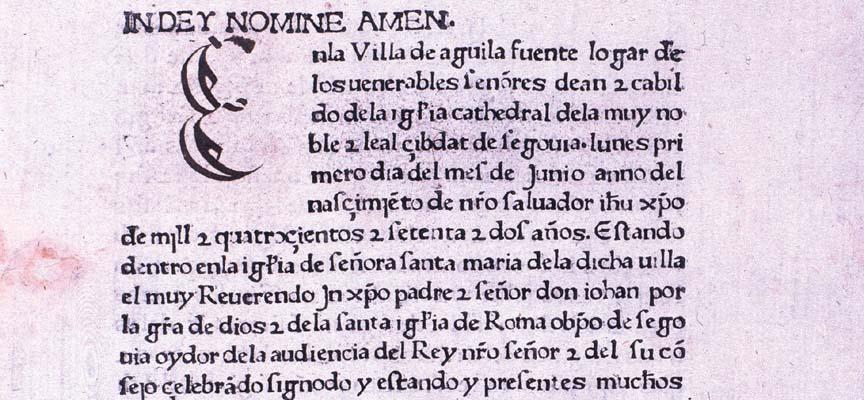 Sinodal de Aguilafuente (Segovia. Juan Párix. 1472).