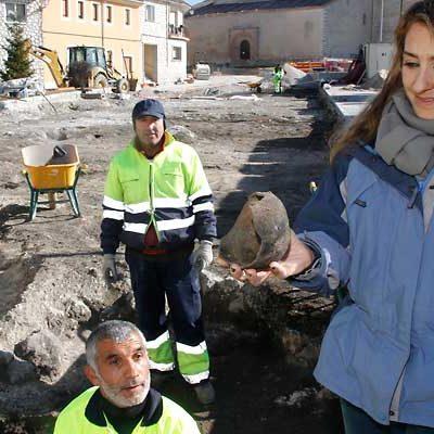 La excavación arqueológica de la calle Palacio saca a la luz restos prehistóricos, medievales e islámicos