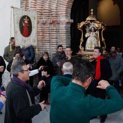 Danzas al Niño de la Bola en el Año Nuevo cuellarano