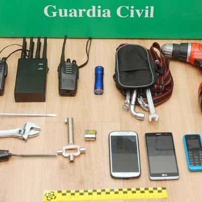 La Guardia Civil detiene a cuatro personas como presuntos autores del robo en una empresa de aluminio en Cantalejo