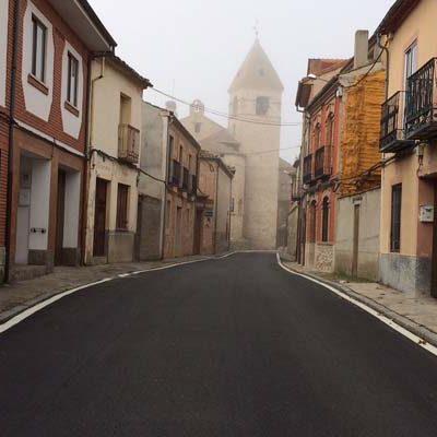 La Diputación acondiciona la travesía de Fuentepelayo