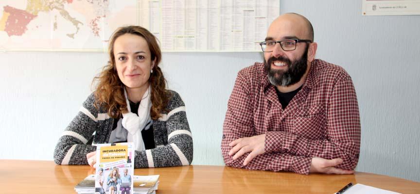 Mayte Ferreiro y Sergio Arranz en la presentación del proyecto.