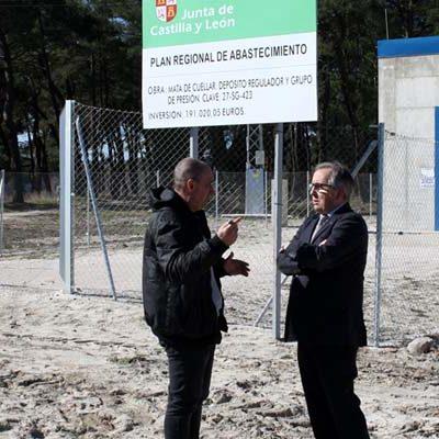 La Junta de Castilla y León mejora el abastecimiento de agua de Mata de Cuéllar con un nuevo depósito regulador