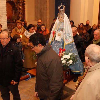 La virgen de Las Candelas recorrió las calles de San Andrés