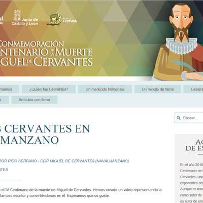El colegio de Navalmanzano, entre los centros educativos premiados por fomentar el conocimiento de Miguel de Cervantes