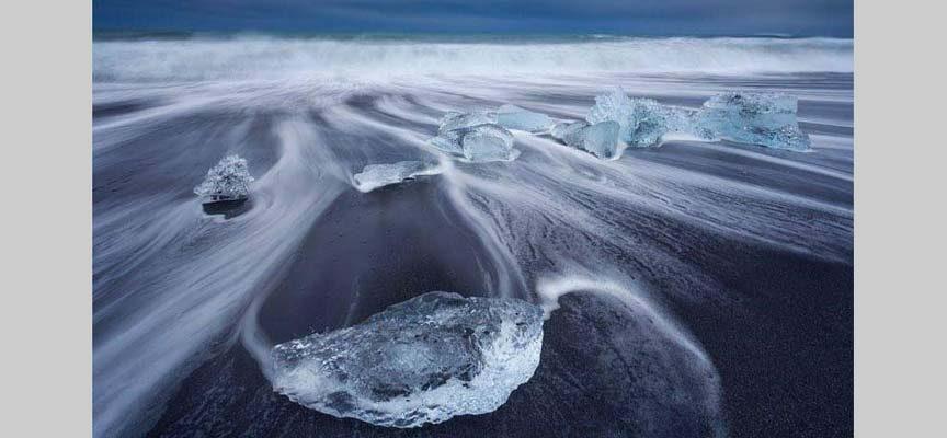 Playa de los diamantes de Islandia.