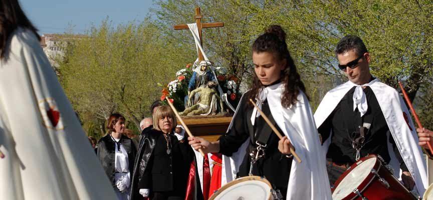La Virgen de la Compasión abre hoy las procesiones en Cuéllar