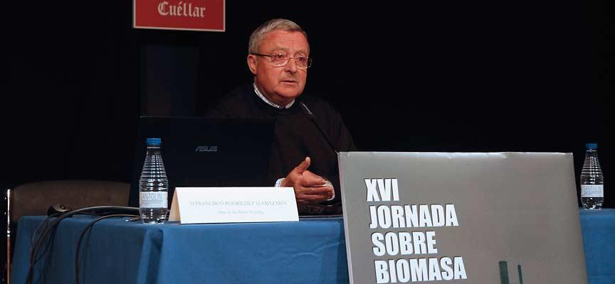 Francisco Rodríguez, abad de San Isidoro de León, durante la jornada de biomasa.
