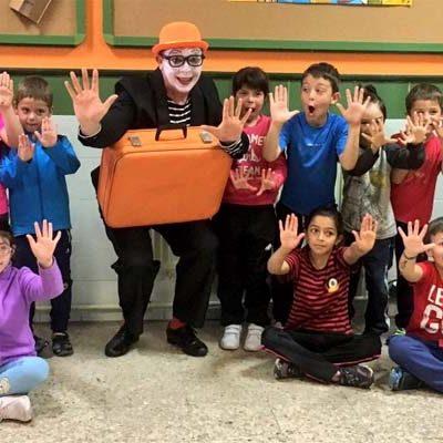 El `Señor Pip´ presentó en los colegios el I Encuentro de Mimo y Pantomima que comienza hoy