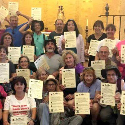 La Asociación San Benito de Gallegos completa un nuevo tramo del Camino de Santiago