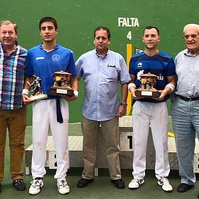 Carlos Baeza gana junto a Emiliano Skufca la 68ª Semana Internacional de Pelota de Gijón