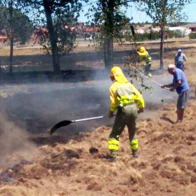 La Junta alerta a la población del incremento del riesgo de incendios forestales y agrícolas por la ola de calor