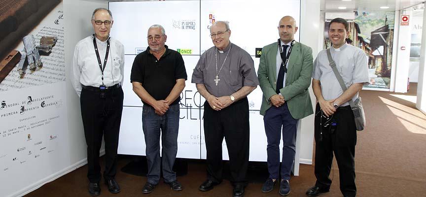 El cardenal emérito de La Habana (centro) y sus acompañantes durante su visita a `Reconciliare´.