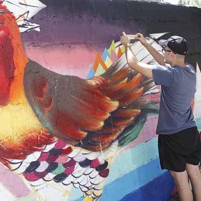 Sanchonuño acoge su III Exhibición de Grafiti Mural