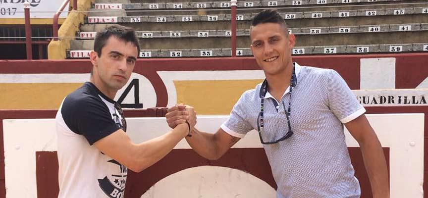 Albano Quintanilla y Héctor Cabano, dos de los cortadores locales participantes en el homenaje.