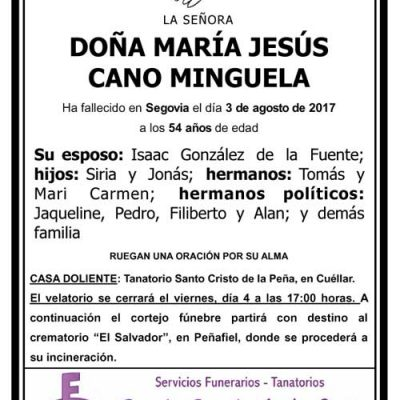 María Jesús Cano Minguela