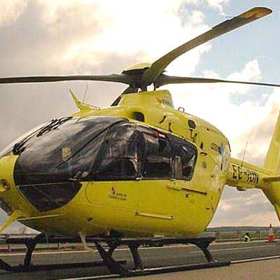 Herido un motorista de 82 años en un accidente en la SG-333 en Remondo
