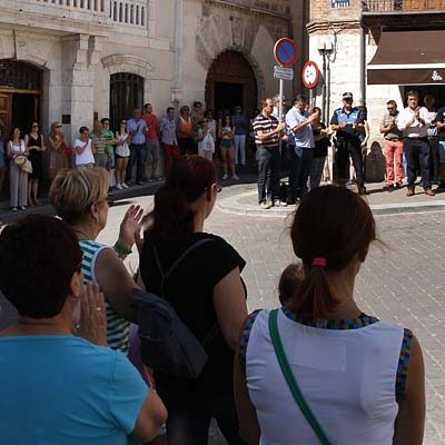Cuéllar se suma al minuto de silencio en repulsa por los atentados de Barcelona y Cambrils