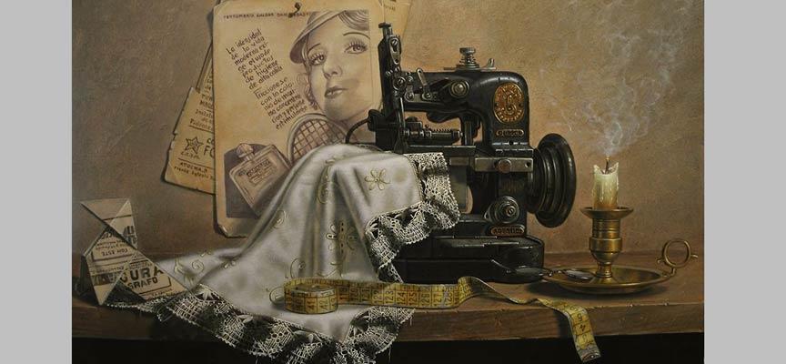 Detalle de uno de los cuadros que pueden verse en la exposición.