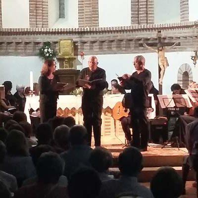 La iglesia de Santa María de Aguilafuente completó su aforo en el concierto de Audite