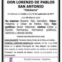Lorenzo de Pablos San Antonio