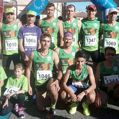 Atletismo Cuéllar tiñó de verde los 21,97 km de la Media Maratón de Cantalejo