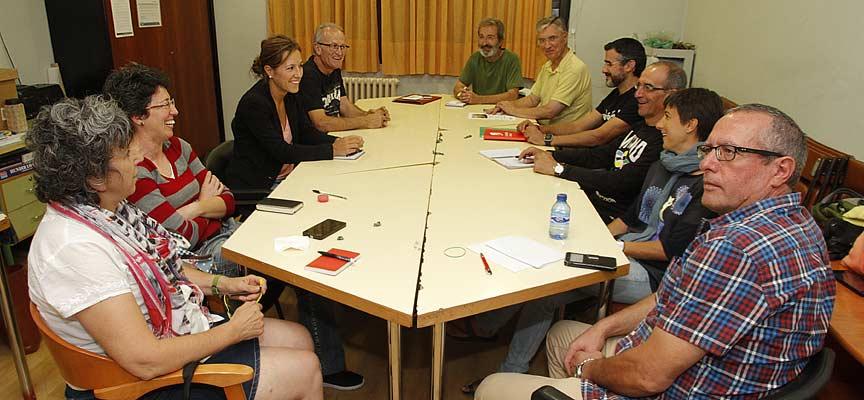 Encuentro de la asamblea Comarcal de IU con el coordinador provincial.