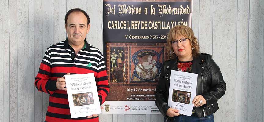 Javier Hernanz y Sonia Martín , tras la presentación de las jornadas.