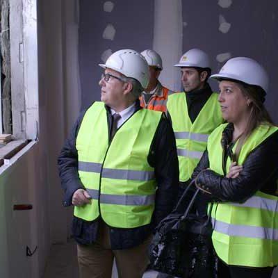 Las obras de ampliación y reforma del centro de salud de Carbonero el Mayor avanzan a buen ritmo
