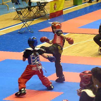 Alain y Hugo González logran 6 medallas en el Campeonato de España de Clubes de kick boxing