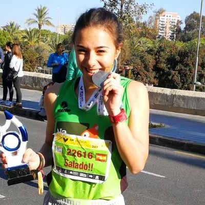 Marina Muñoz logra un segundo puesto en la prueba de 10 kilómetros de la Maratón de Valencia