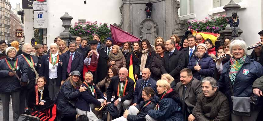 La cuellarana Conchi Bayón volverá a vestir de segoviano al Manneken Pis de Bruselas