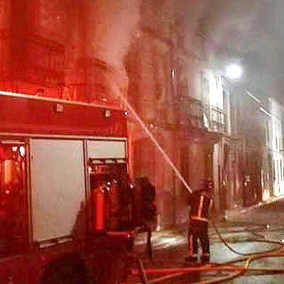 Controlado el incendio de Fuenterrebollo que ha afectado a cuatro viviendas