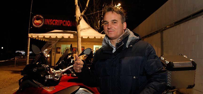 Máximo San Macario, alcalde de Cantalejo, en la concentración de motos La LEyenda Continúa