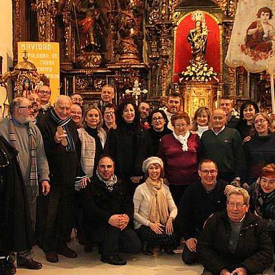 Los actos en honor al Niño de la Bola se celebran en la iglesia de San Miguel a causa de la nieve