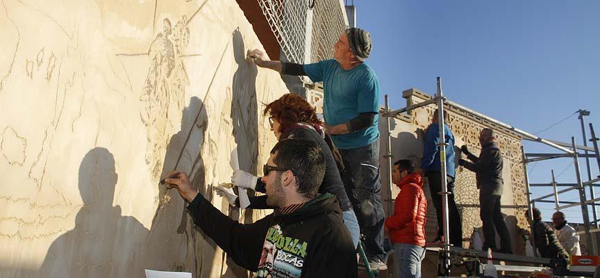 Pablo Arévalo expondrá sus trabajos de esgrafiado e impartirá talleres durante la Feria de Cuéllar