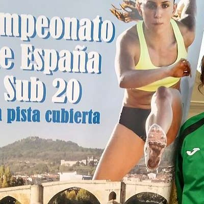 La cuellarana Ángela García logra situarse 4º en el ranking nacional de pista cubierta en 400 metros lisos