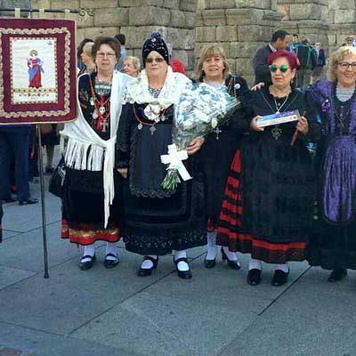 Las aguederas de Cuéllar participarán en la Romería de la Virgen de La Fuencisla y su ofrenda floral