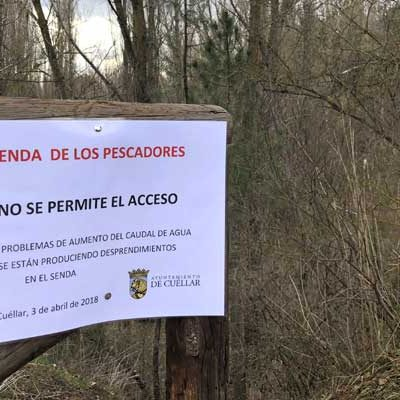 Los desprendimientos por la crecida del rio llevan al cierre temporal de la Senda de los Pescadores