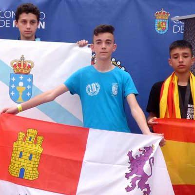 Alain y Hugo González compitieron en el Campeonato de España de kick boxing