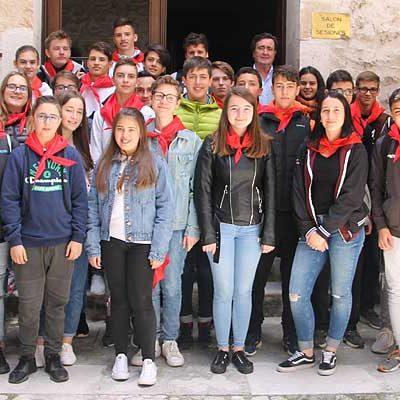 Alumnos de la Goetheschule de Dieburg visitan Cuéllar en un intercambio con el IES Duque de Alburquerque
