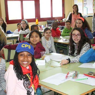 Treinta escolares londinenses participan en un intercambio lingüístico con el colegio Santa Clara