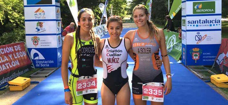 Marina Muñoz se cuelga otra medalla de oro en el duatlón cross de Almazán