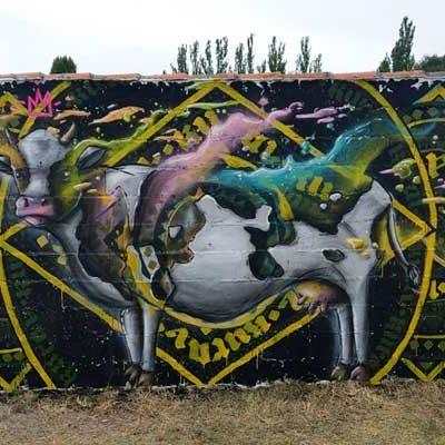 LKNoir y Tizart, ganadores del II Concurso Graffiti-Mural de Sanchonuño