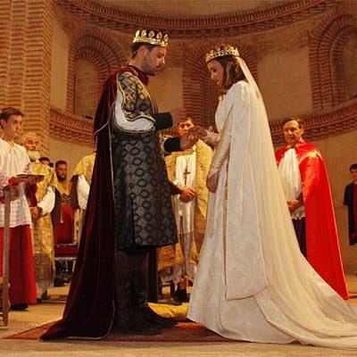 Cuéllar revivió un pasaje de su historia con la boda real de Pedro I de Castilla y Juana de Castro